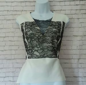 ZARA W&B COLLECTION lace peplum top